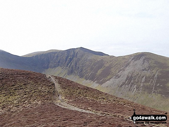 Hobcarton Crag, Hopegill Head and Ladyside Pike from Hobcarton End