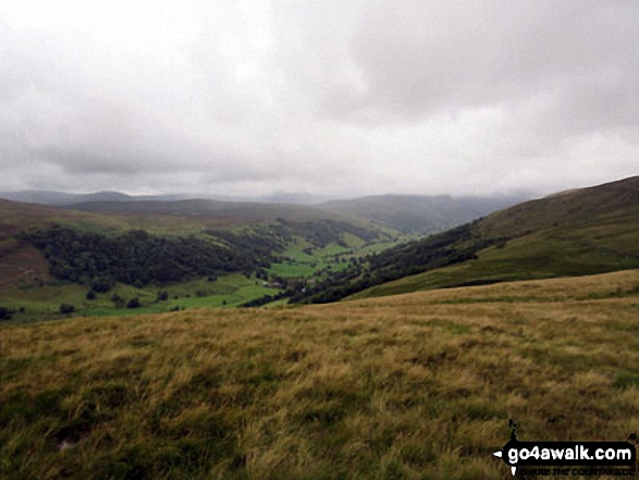 View down Longsleddale from Todd Fell