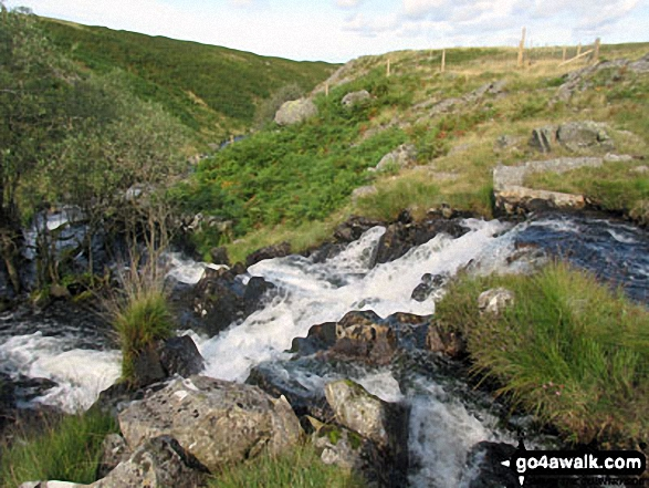 Small waterfall on Linbeck Gill at the Southern end of Devoke Water