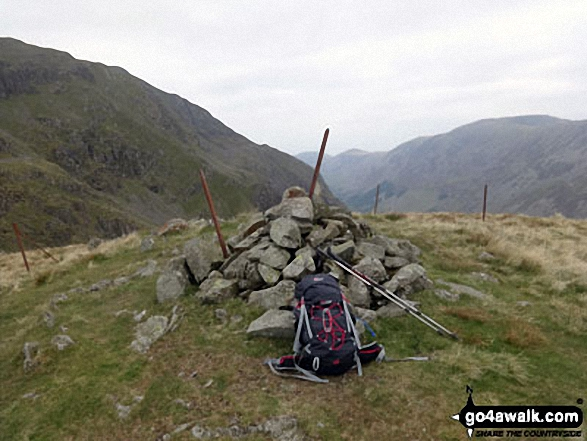 Looking Stead (Pillar) summit cairn. Walk route map c141 Great Gable and Pillar from Wasdale Head, Wast Water photo