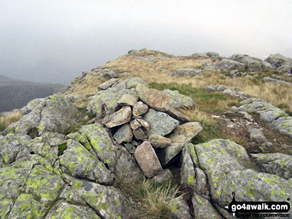 Middleboot Knotts summit cairn. Walk route map c271 The Scafell Massif from Wasdale Head, Wast Water photo