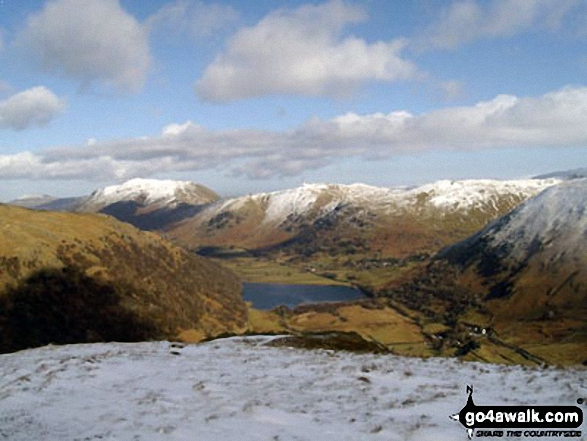 Place Fell and Angletarn Pikes above Brothers Water from High Hartsop Dodd. Walk route map c333 The Dovedale Round photo