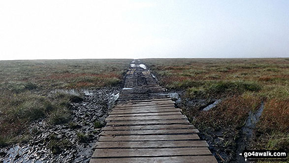 A useful wooden path across the Swinhope Moor bog
