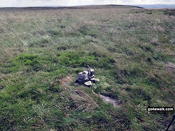 Rebuilt Cairn on Little Fell (Burton Fell) but still very small