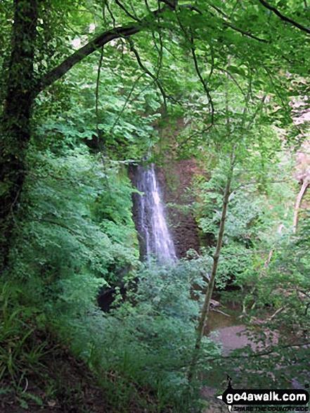 The waterfall at Falling Foss Tea Gardens, Sneaton Forest near Whitby Walking Wainwright's Coast to Coast Walk 2011