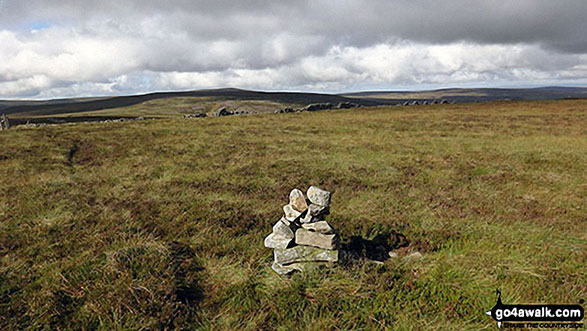Middlehope Moor summit cairn