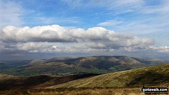 The Howgills from Calf Top summit