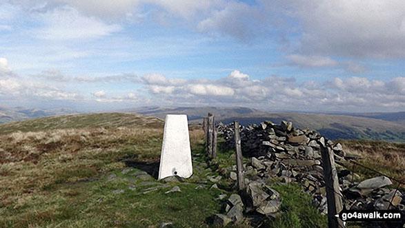 Calf Top summit trig point