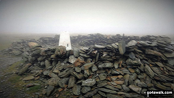 Black Combe summit Trig point and shelter