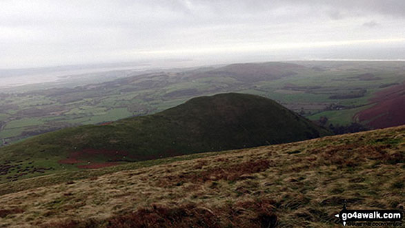 White Hall Knott from the path off White Combe