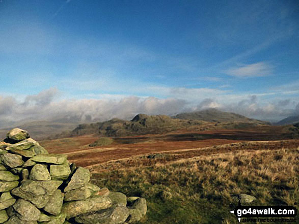 Looking towards Green Crag (Ulpha Fell) from Great Worm Crag