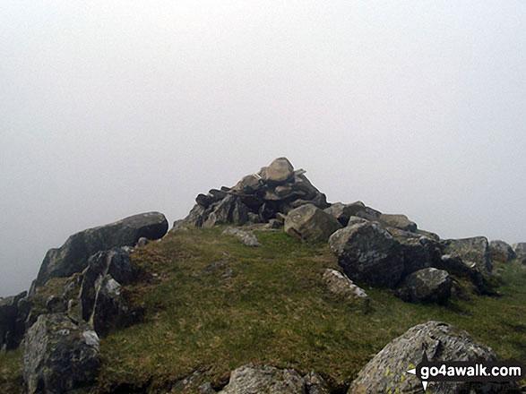 The cairn on the summit of Glaramara