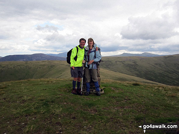 On the summit of Lank Rigg