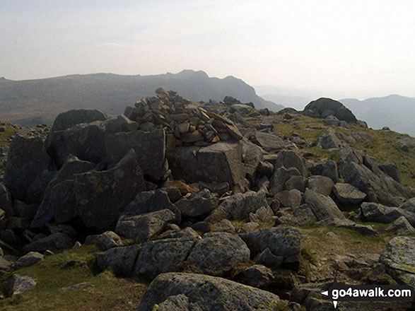 Cairn on the summit of Rossett Pike