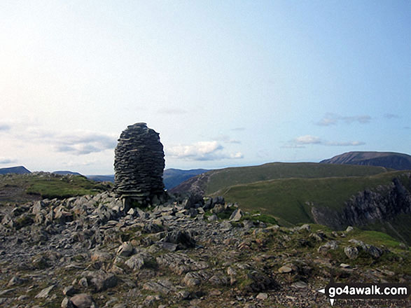 The tall cairn on the summit of Dale Head (Newlands)