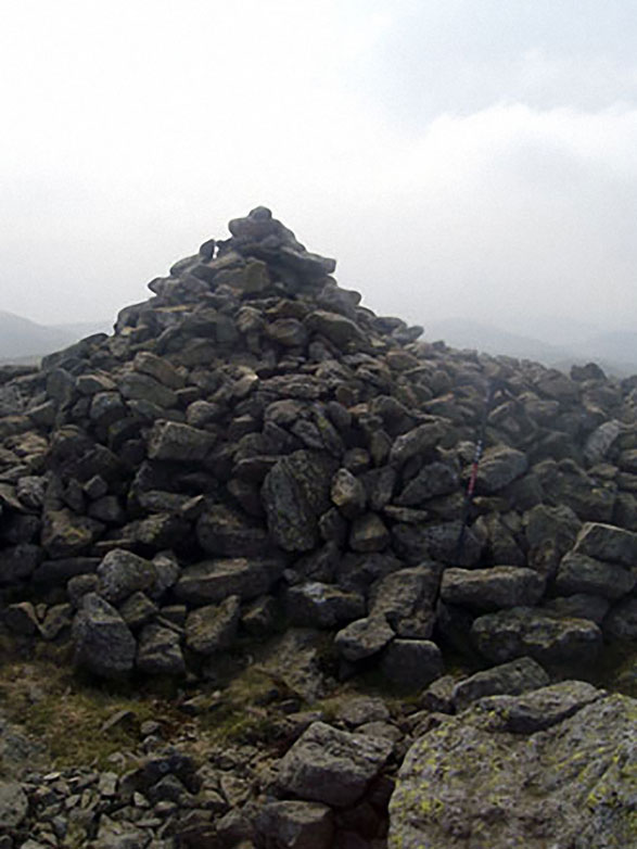 The large cairn on the High Raise (Mardale) summit)