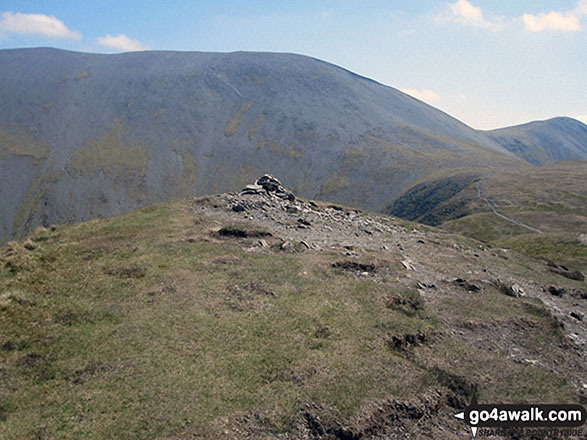 Long Side summit cairn with Skiddaw beyond
