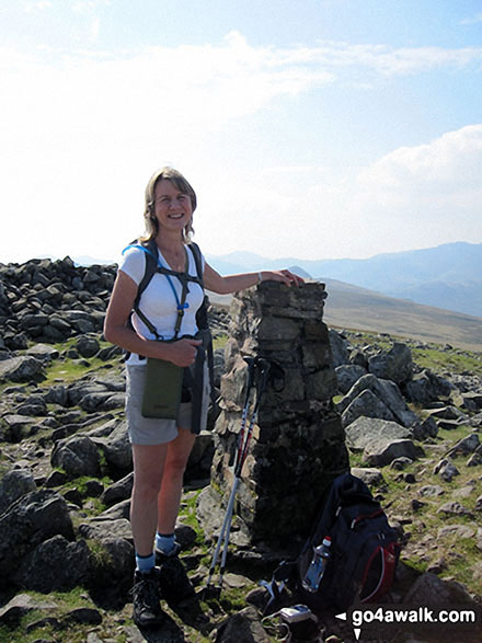 Me beside the Trig Point on High Raise (Langdale) Summit