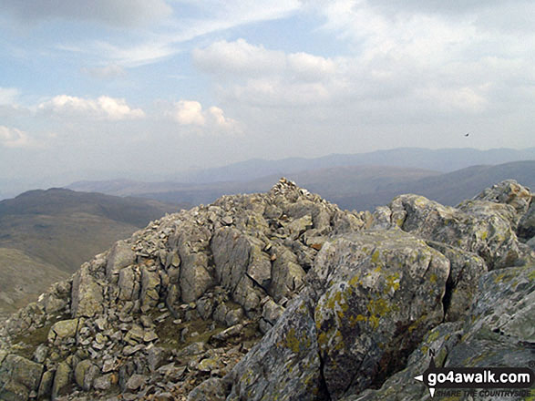 Esk Pike summit cairn