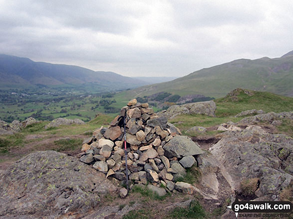 The cairn on the summit of High Rigg