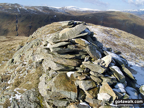 The summit cairn on Hartsop Dodd