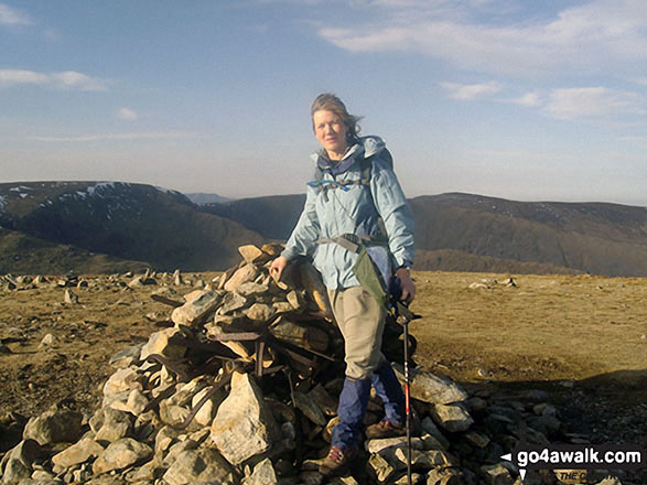 Me on Harter Fell (Mardale) summit cairn