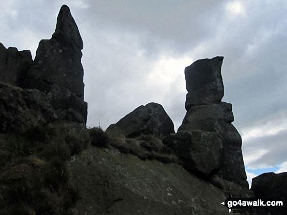 The Wain Stones (Wainstones) between Broughton Bank and Hasty Bank Walking Wainwright's Coast to Coast Walk 2011