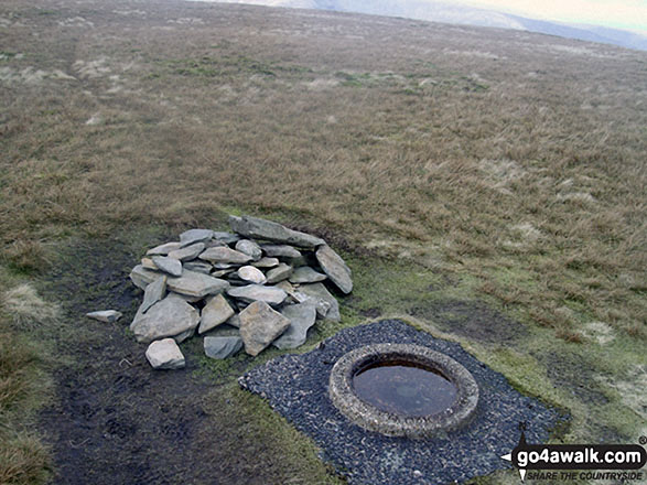 The Ordnance Survey Concrete Ring on the summit of Branstree (Artlecrag Pike)