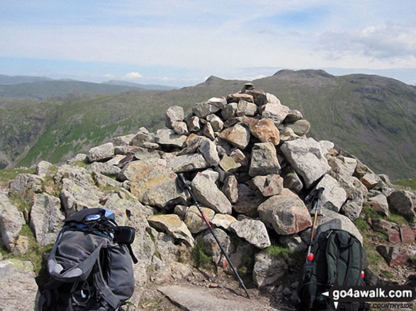 Base Brown summit cairn