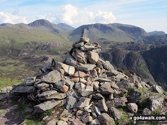 The summit cairn on Fleetwith Pike