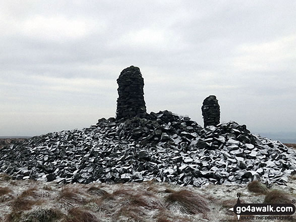 Curricks on Tindale Fell under a light dusting of snow