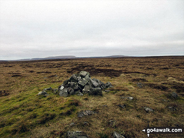 Backstone Edge (Dufton) summit cairn now minus its pole