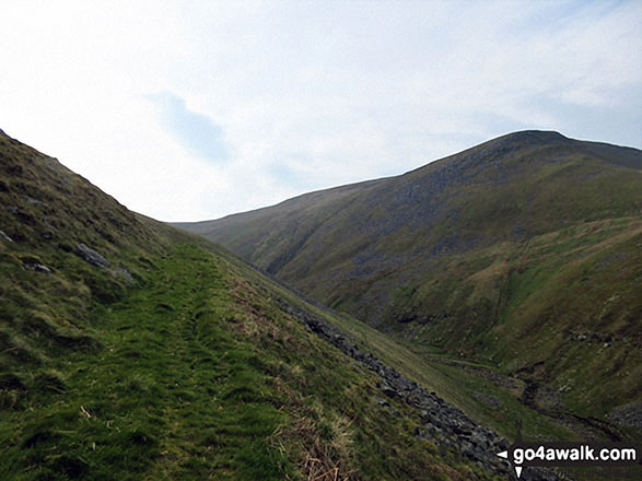 A good path up Swindale Edge with Roman Fell on the right
