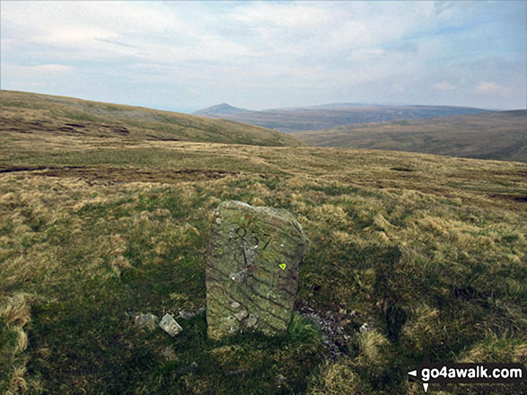 An interesting marker on the way to Long Fell