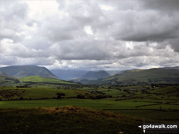 Whiteside (Crummock) (left), Mellbreak (centre) and Fellbarrow (right) from Setmurthy Common (Watch Hill)