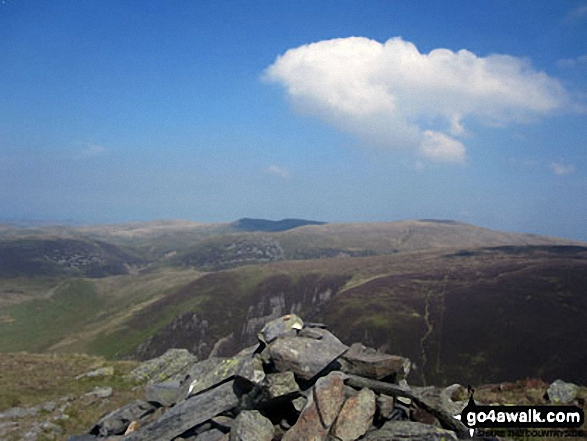 Looking North East to Knott (Uldale Fells), High Pike (Caldbeck) and Carrock Fell from the summit cairn on Bakestall
