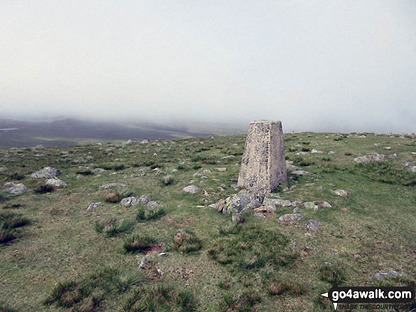 Whitfell (Whit Fell) summit trig point