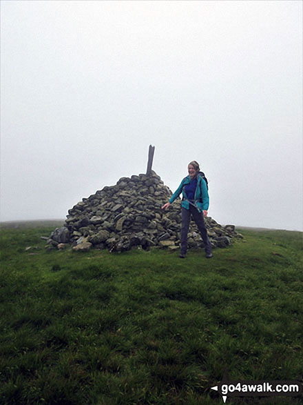 Made it! Me on the summit of my Killhope Law, final English Nuttall