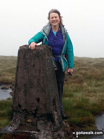 Me on the summit trig point of Killhope Law, my final English Nuttall