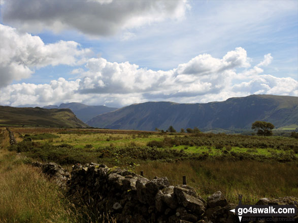 The Wasdale Screes below Illgill Head (centre) and Whin Rigg (right) from Ponsonby Fell
