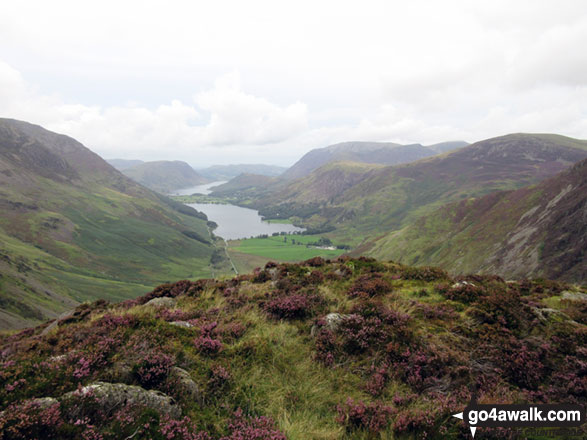 Buttermere and Crummock Water from Green Crag (Buttermere) summit