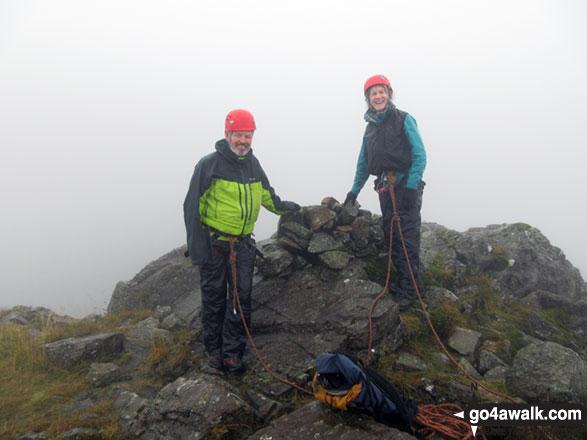 On the summit of Pillar Rock
