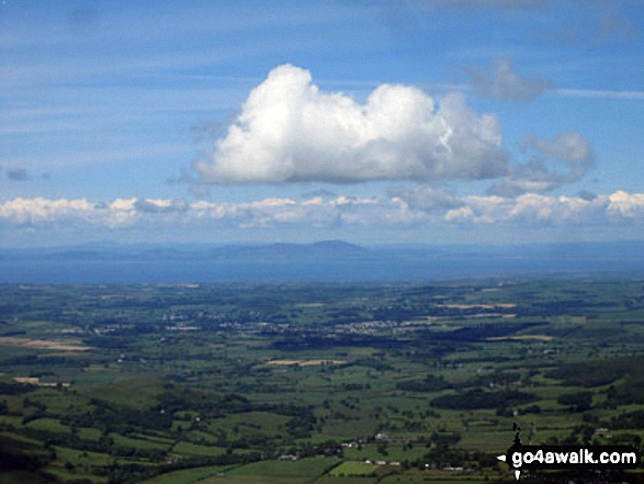 Looking North West to The Solway Firth and Criffel from Hopegill Head