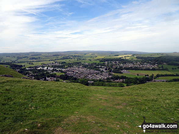 On Langcliffe, looking back from the climb out of Settle