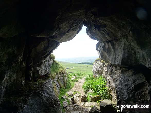 Looking out from Jubilee Cave