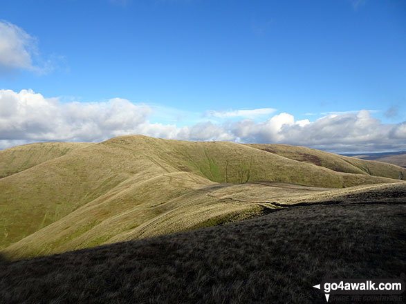 The onward path to Calders and The Calf from Arant Haw
