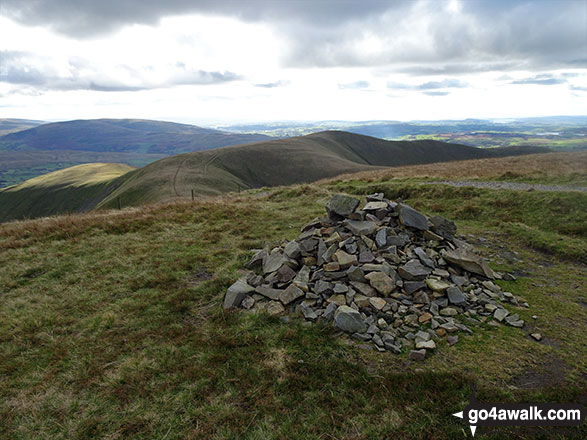 The cairn on the summit of Calders