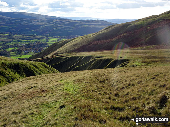 The view from the path back to Sedbergh from Crook (Howgills)