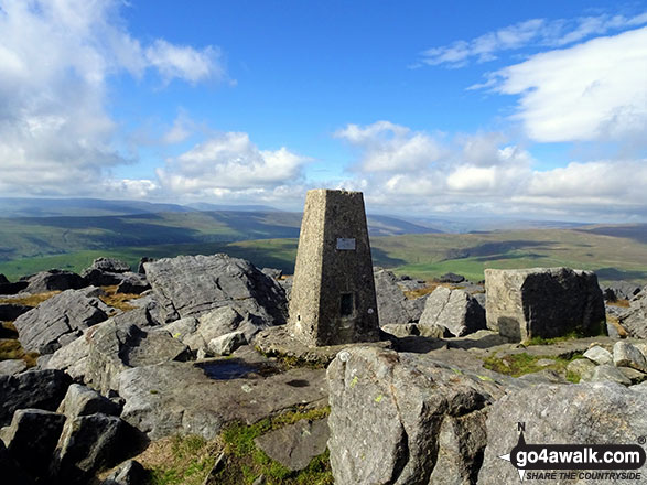 Trig Point on the summit of Great Whernside