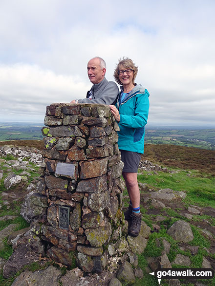 On the summit of Binsey with my husband